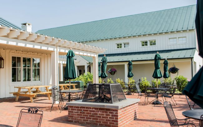 Pavilion Patio at King Family Vineyards